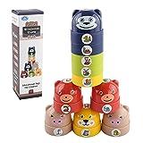 10 Stück Stapelbecher - Spielbecher   Nistbecher Spielzeug Baby Badespielzeug   Stapelturm Baby Montessori Spielzeug   Geschenk Für 6 Monate + Jungen & Mädchen