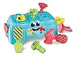 Clementoni 17042 Baby Clementoni – Werkbank, Motorik-Spielzeug aus recyceltem Material, Werkzeug-Box mit Hammer, Schrauben & -dreher, für Kleinkinder ab 10 Monaten