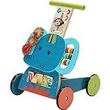 labebe Baby Lauflernwagen Holz Blau Elefant Lauflernhilfe 3...