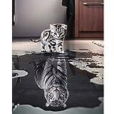 YIMAKJ Malen nach Zahlen Erwachsene, DIY Handgemalt Ölgemälde für Kinder Anfänger- Katze oder Tiger Leinwanddruck Wandkunst Dekoration Home Haus Deko