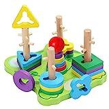 Belle Vous Steckspiel Frosch Holz Puzzle Sortierspiel...