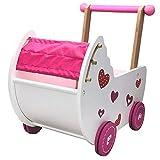 Eco Toys Puppenwagen Puppenmöbel Lauflernwagen Schiebewagen...