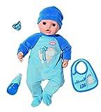 Baby Annabell Puppe mit Alexander Funktion, 43 cm, realistische Töne und Bewegung, weint, Kopf, witzig, 3 Zubehörteile, Spielzeug für Kinder ab 3 Jahren, BAY02