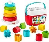 Fisher-Price GRF11 - Stapel & Sortier Spielset, Geschenkset, Kinderspielzeug aus pflanzlichen Rohstoffen, ab 6 Monaten
