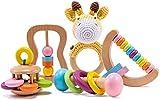 Holz Montessori Baby sensorische Rassel Lernspielzeug...