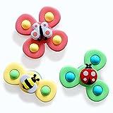 VCOSTORE Baby Spielzeug mit Rotierendem Saugnapf, Spielzeug für Anfänger, Tierdrehscheibe Spinnende Windmühle Stressabbau Kreatives Lernspielzeug