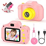 vatenick Kinder Digital Kamera Spielzeug Kleinkind Kamera Spielzeug 2 Zoll HD-Bildschirm 1080P 32 GB TF-Karte Jungen und Mädchen Geschenke Spielzeug für 3 bis 12 Jahre alte (rosa)