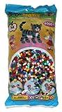 Hama Perlen 205-67 Bügelperlen Beutel mit ca. 6.000 bunten Midi Bastelperlen mit Durchmesser 5 mm im Volltonfarben Mix, kreativer Bastelspaß für Groß und Klein