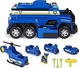 PAW Patrol 6058329 - 5-in-1-Polizeifahrzeug von Chase - 4 Mini Fahrzeuge plus Polizeicruiser plus Chase Figur