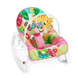 Fisher-Price GNV70 - 2-in-1 Schaukelsitz Schaukelstuhl und Wippe mit 2 Spielzeugen für Baby und Kleinkinder, ab 0 Monaten, bis ca. 18 kg