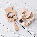 Promise Babe 2pc Baby Holz Beißring Spielzeug Buchenholz...