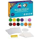 Smowo® Mega Bügelperlen Set mit 10.000 Perlen - 15 Farben - inkl. Steckplatten und Zubehör - XXL Steckperlen Basteln Box