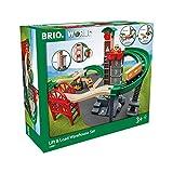 BRIO World 33887 Großes Lagerhaus-Set mit Aufzug –...