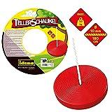 Idena 40196 - Tellerschaukel aus Kunststoff in rot, für...