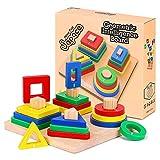 Holz Sortierspiel für Kinder, Holzpuzzles Holzsteckspiel...