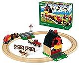 BRIO World 33719 Bahn Bauernhof Set – Holzeisenbahn mit...