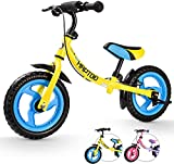 HAPTOO 12 Zoll Kinder Laufrad für 2-6 Jahre, Kleinkind...