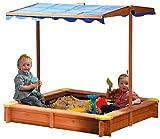 dobar 94350FSC - Sandkasten aus FSC-Holz, Dach...