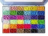 La Manuli Sortiert Fuse Beads Kit - 11000 Stück 5 mm 36 Farben Bügelperlen Set von Hama Beads kompatibel im Dunkeln leuchten Puzzle Kinder Sicherung Perlen Iron Beads Transparent Plastikbox