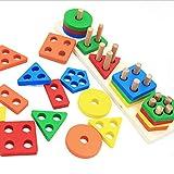 Jsdoin Pädagogisches Spielzeug mit geometrischem...