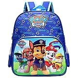 Paw Dog Patrol Kinderrucksack - Miotlsy Paw Dog Patrol Rucksack Kinderrucksack mit Taschen Chase Marshall Rubble für Jungen Rucksack