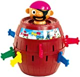 TOMY T7028A1 Kinderspiel 'Pop Up Pirate', Hochwertiges Aktionsspiel für die Familie, Piratenspiel zur Verfeinerung der Geschicklichkeit Ihres Kindes, Gesellschaftsspiel ab 4 Jahren, Pop up Spiel