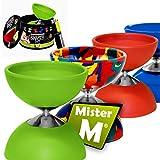 ✓ Das Ultimative Diabolo Set ✓ Jonglier Diabolo (Mittel) ✓ Alu Stäbe ✓ Online Jonglier Video ✓ Geschenkdose