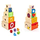 I'm Toy 108871 Multi-Spielkisten-5 stapelbare Holzkistchen...