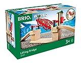 BRIO World 33757 Hebebrücke – Eisenbahnzubehör für die...
