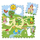 Chicco 00005316000000 Puzzle Matten Schloss, 9-teilig, Mehrfarbig