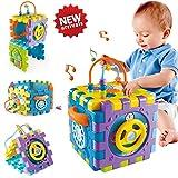 ACTRINIC Babyspielzeug 6-18 Monate Baby-Aktivität Würfelspielzeug, 6 in 1 Mehrzweck Spielzentrum mit Musik.Bestes Geschenkspielzeug für Jungen und Mädchen Kleinkinder Kinder 1 2 3 4 Jahre alt