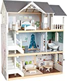 Small Foot 11802 Puppenhaus Stadtvilla, Etagen, offener Front und umfangreichem Mobiliar, ab DREI Jahren Toys