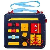 Montessori Spielzeug für 1-3 Jahre alte Kleinkinder Baby, lernen, Spielzeug für 12-36 Monate anzuziehen Baby Jungen Mädchen Busy Board Sensorikspielzeug für Kinder Jungen Mädchen Alter 2 3 4