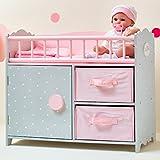 Olivias World 16 Zoll Babypuppen-Möbel Holz-Wickeltisch...