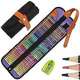 50 Buntstifte Set, HOSPAOP Zeichnen Bleistifte Art Set für professionelle Farbmischung Malen und Skizzen, Holzfarbstifte perfekt für Erwachsene Schüler Kinder Malbücher