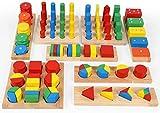 TOWO Holz Sortierspiel mit Geometrische Formen zum Stapeln,...