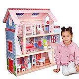 Infantastic® XXL Puppenhaus aus Holz mit LED - 3...