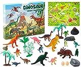 KreativeKraft Adventskalender 2021, Dinosaurier Adventskalender Kinder 24er Stück, Dino Spielzeuge Zubehöre Weihnachtskalender Mädchen und Jungen