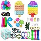 Rpporm Tik Tok Anti Lindert Stress Spielzeug - Sensory Fidget Toy Squeeze Toys Für Kinder Erwachsene - Stressabbau Simple Push Pop Bubble Spielzeug Set (K-Mehrfarbig, Einheitsgröße)