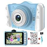 Kinderkamera - Digitalkamera Kinder mit 3,5-Zoll-Großbildschirm 1080P HD 12MP Eingebaute 32GB SD-Karte USB Wiederaufladbare Selfie Kamera für 3 - 10 Jahre Alter Mädchen Geburtstag Kinder Spielzeug