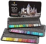 """Castle Art Supplies, Set mit 120 Buntstiften für Künstler mit Mine der """"Soft Series"""" für professionelles Schichten, Mischen und Schattieren von Farbtönen; perfekt für Malbücher"""