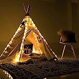 Led Lichterkette für Tipi Zelt, 4 X Kette Kinder Teepee Spielzelt Lights Dekorativ, Fairy Lights for Teepee Tents