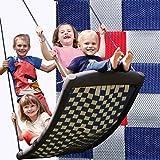 Große Mehrkindschaukel STANDARD silber/rot/blau für 4...