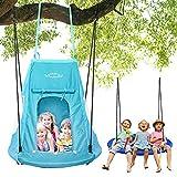 YOLEO 100cm Nestschaukel mit Zelt, Kinderschaukel...
