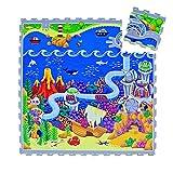 Hakuna Matte Puzzlematte für Babys Ozeanzauber 1,2x1,2m, 16 Fliesen – 20% dickere Spielmatte in Einer umweltfreundlichen Verpackung – schadstofffrei, geruchlos, TÜV Formamid geprüft