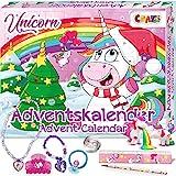 CRAZE Adventskalender 2020 UNICORN niedliche Einhorn Figuren Haarschmuck Accessoires Weihnachtskalender für Kinder Spielzeugkalender 24706