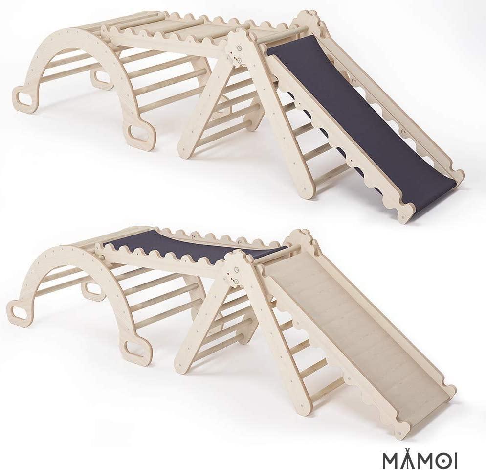 Kletterdreiecke mit Rutsche Komplettset MAMOI