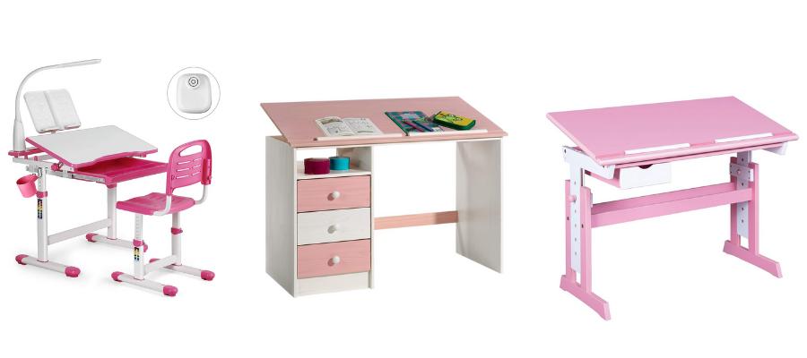 Rosa Schreibtisch