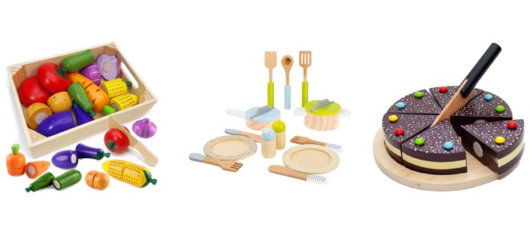 Spielküchen Zubehör Holz